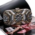 Free Shipping Women's Crystal Evening bag Retro Beaded Clutch Bags Wedding Diamond Beaded Bag Rhinestone Small Shoulder Bags