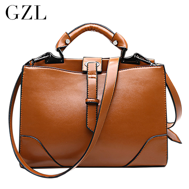GZL Women fashion should bags PU leather double zipper handbags luxury crossbody bag female style totes HB0083