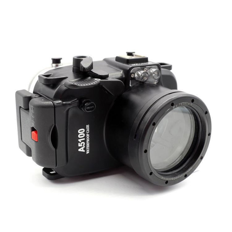 Meikon 40M/130FT Waterproof Underwater Camera Housing Hard Case for Sony A5100 16-50mm Lens + 67mm Red Filter mcoplus 40m 130ft camera underwater housing waterproof shell case for nikon j5 10mm lens