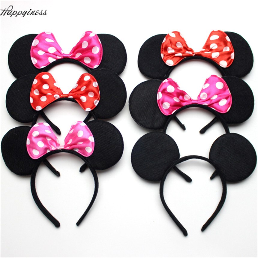 10pcs Minnie Mouse And Mickey Party Supplies Headband Hair Band Kids Birthday Decorations Baby Shower Costume Head