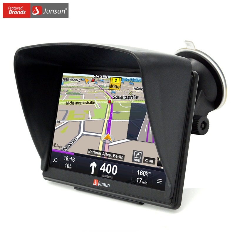 Junsun 7 inch HD Car GPS Navigation Blues