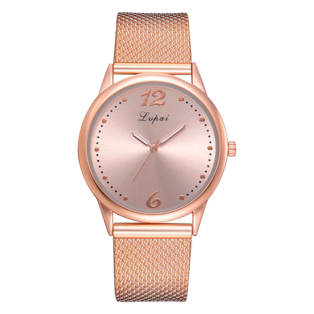 Lvpai Ladies Wristwatches Rose Gold Mesh Simple Clock Cheap Fashion Women's Watch Wolesale Bracelet Femmes Hot Selling