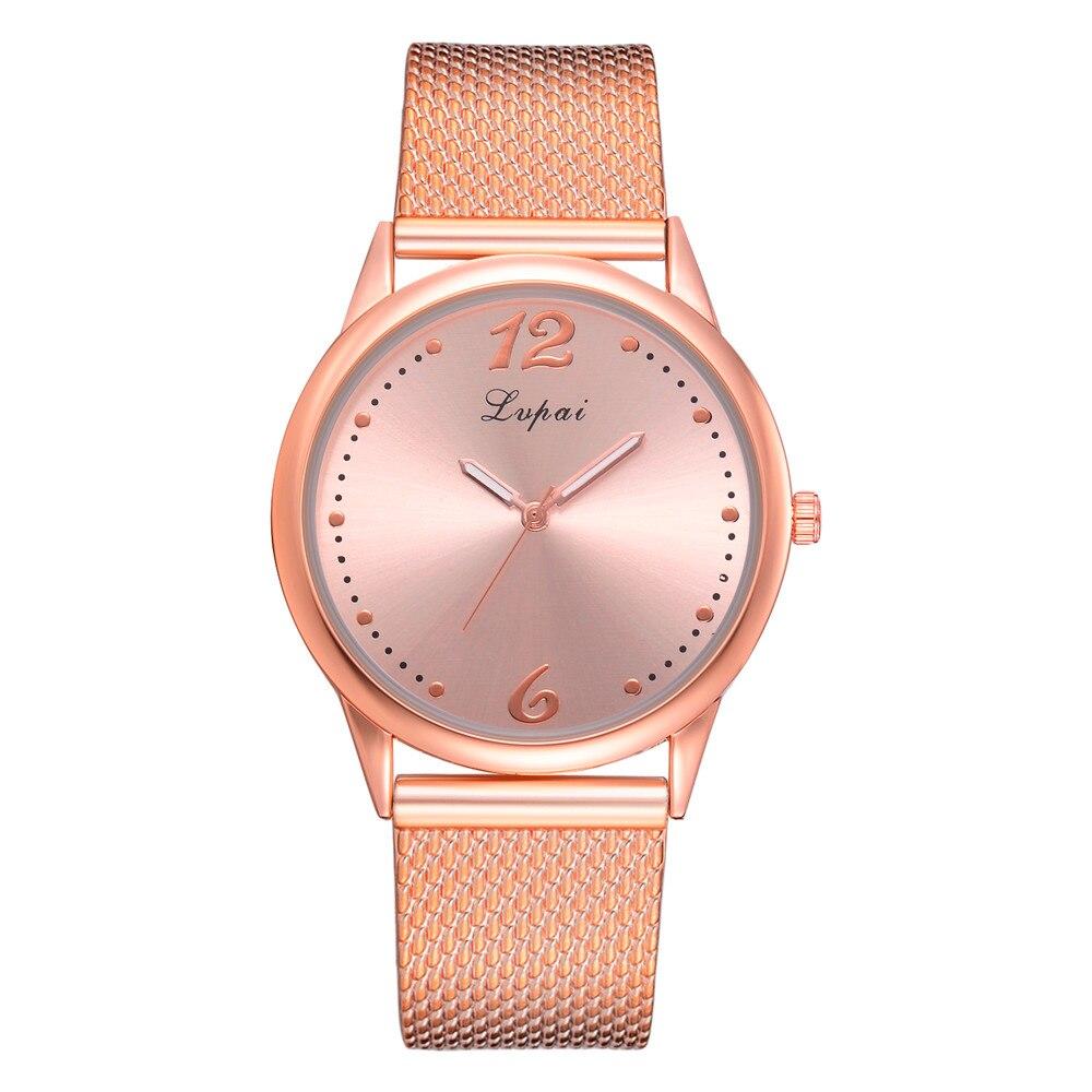 Lvpai Ladies Wristwatches Rose Gold Mesh Simple Clock Cheap Fashion Women's Watch Wolesale Bracelet Femmes Hot Selling