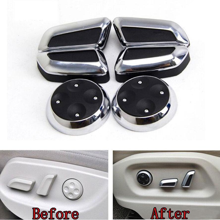 6x Door Seat Adjustment Switch Control Knob Button Cover Trim Fit For AudiA5 Q5 A4 B8 A3 A6 Q3 CC Tiguan Car Styling Accessories