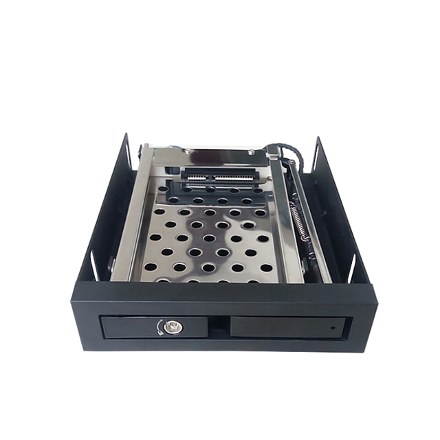 Único 2.5in Discos Rígidos para o Caso De Alumínio 3.5In Hot Swap Sata Mobile Rack