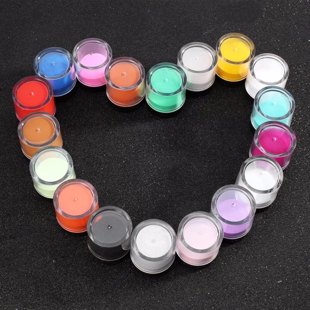 18pcs Nail Art Tool Kit Poudre Acrylique UV Poudre Gem Ongles Outils - Manucure