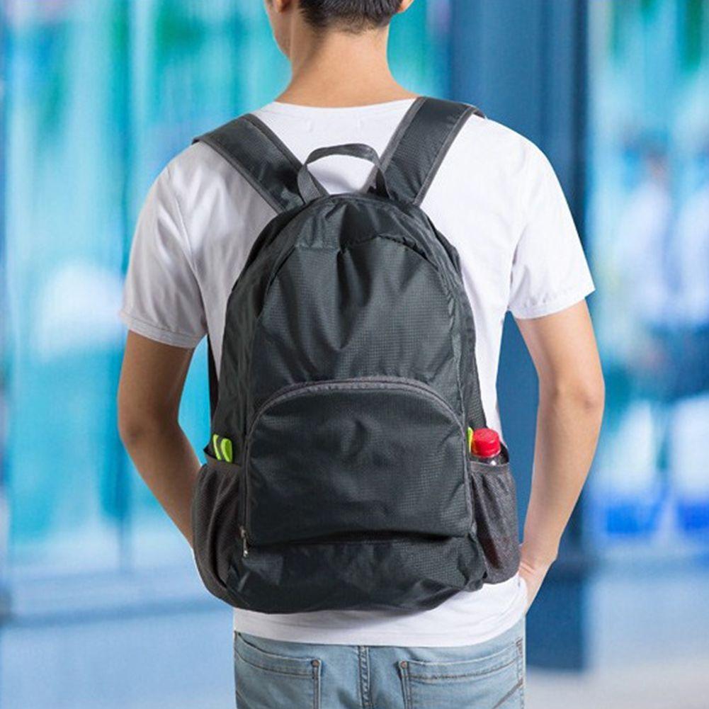 Portable Fashion Travel Backpacks Zipper Soild Nylon Back Pack Daily Traveling Women Men Shoulder Bags Folding Bag