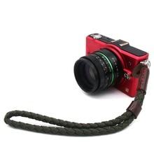 Новая мода Винтаж холст Кожа PU Организации Камеры ремешок для DSRL Ручной Army green Y бесплатная доставка