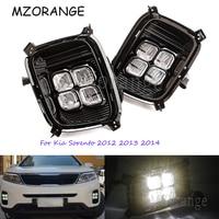 Day Light Daytime Running Lights For Kia Sorento 2012 2013 2014 12V ABS LED DRL Fog Lamps Cover Driving Lights Accessories
