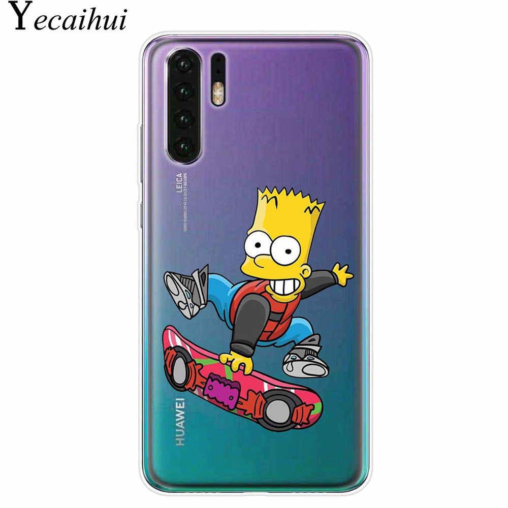Homer J Simpson ngộ nghĩnh BART SIMPSON Coque Hoạt Hình Ốp lưng điện thoại Cuque Huawei P30 P20 P10 Lite giao phối 10 20 Lite TPU Ốp Lưng Silicon