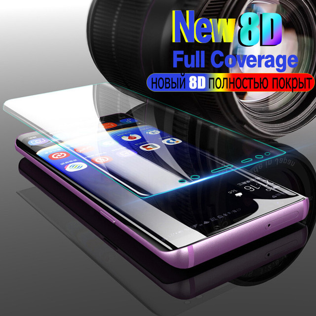 8D Full Curved Tempered Glass For Samsung Galaxy S9 S8 Plus A7 A6 A8 2018 S7 edge 6D Screen Protector For Samsung Note 8 9 Film
