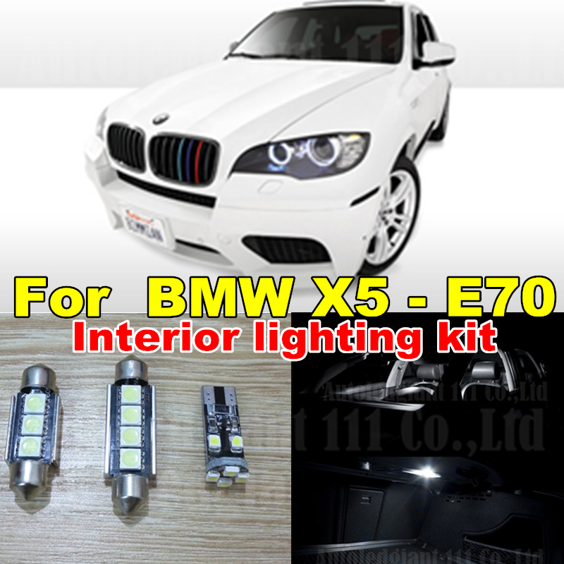 WLJH 20x Canbus Cool White Led Interior Dome Mirrors Puddle Bulb Trunk LED for BMW X5 - E70 Interior light kit Package 2007-2013 car 5630 smd interior map dome trunk light led bulb white led kit package for volvo 850 1991 1995 with install tools
