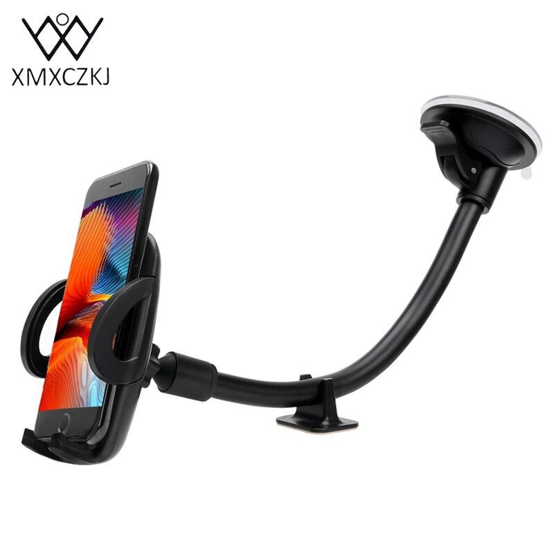 XMXCZKJ Supporto Del Telefono Mobile Dell'automobile Universale 360 Gradi Auto Parabrezza Lunga Staffa A Braccio Del Supporto Del Telefono supporto GPS Montare Supporto Per Telefono Cellulare