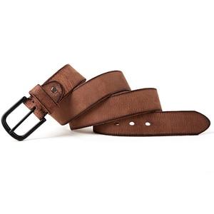 Image 3 - FRALU männer hohe qualität aus echtem leder gürtel luxus designer gürtel männer rindsleder mode Band männlichen Jeans für mann cinturon hombre