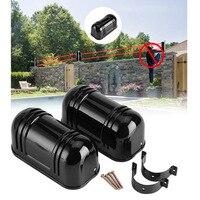 150m Sensor Alarm Dual Beam Infrarot Detektor für Home Security unterstützung Verbunden  um die alarm