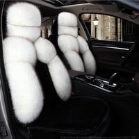 Wenbinge plush car seat cover for Kia toyota auris opel leon lada granta renault vw styling car accessories electric automobiles