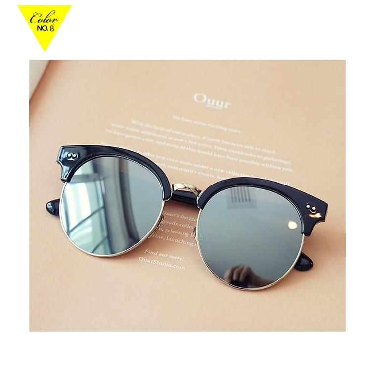b0d3cdaa71 Multicolor para mujer gafas de sol redondas gafas de sol reflectantes  estilo único de lujo de moda para hombre de nuevos productos 2016 en  Disfraces de cine ...