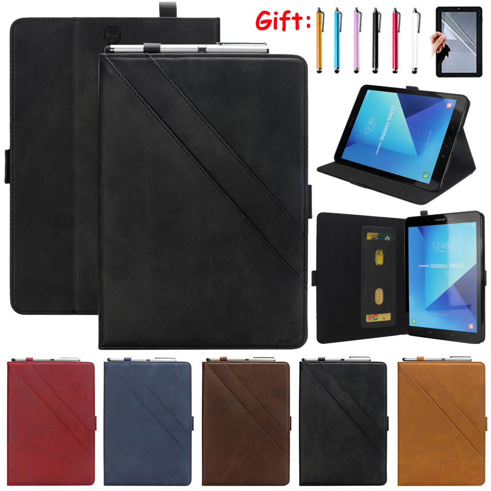 """For Sansung Galaxy Tab S3 9.7"""" T820/T825 Ultra-Slim Auto Sleep/Wake Up Card Slot Kickstand Stand Case for Samsung Tab S3 9.7''"""