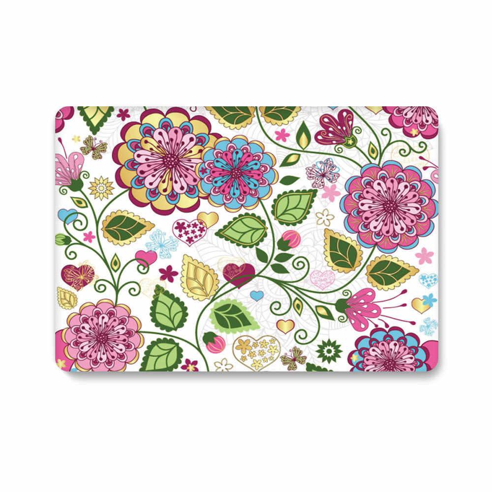 塗装マップラップトップケースアップルの Macbook Air Pro の網膜 11 12 13 15 ハードケース新しいマックブック用プロ 13 とバー + ギフト