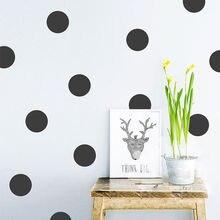 Pegatinas de pared de lunares, calcomanía extraíble, patrón de puntos, círculo, decoración de guardería