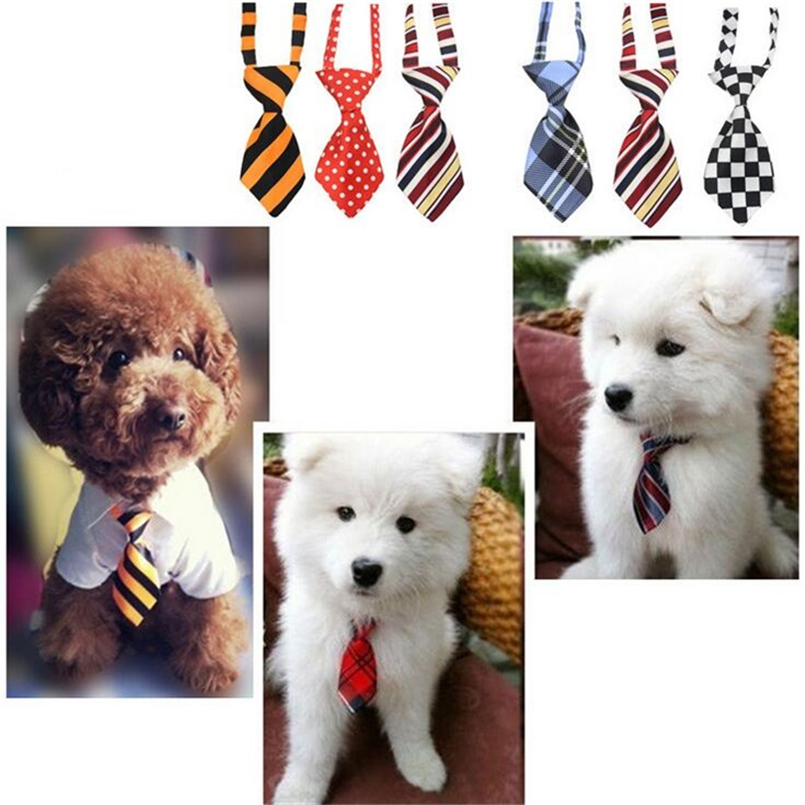 1pcs Fashion polyester silk pet tie dog headdress necktie ddjustable nice bow tie cat tie pet supplies 27 color free ship
