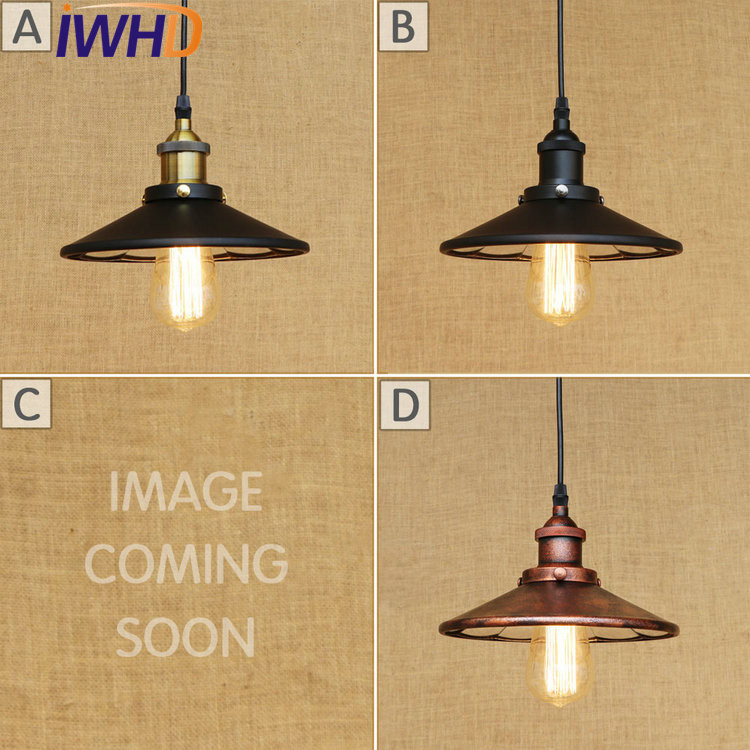 IWHD Loft Style Retro Iron Pendant Light Fixtures Edison Vintage Industrial Lighting Mirror Glass Hanging Lamp Indoor Lighting glass lampshade retro pulley pendant light fixtures in style loft industrial lamp eidson indoor lighting