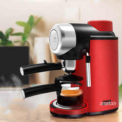 MD-2005 China Household Coffee Maker Caker Semi Automatic Italian Cafe Espresso Coffee Machine For Home Use 240ml 220V Red