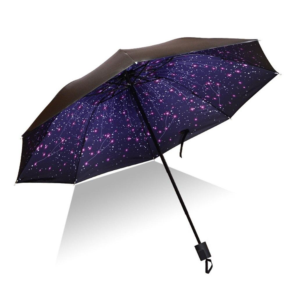 Paraguas de lluvia solar para hombres y mujeres protección UV a prueba de viento plegable paraguas de viaje al aire libre compacto mejor precio