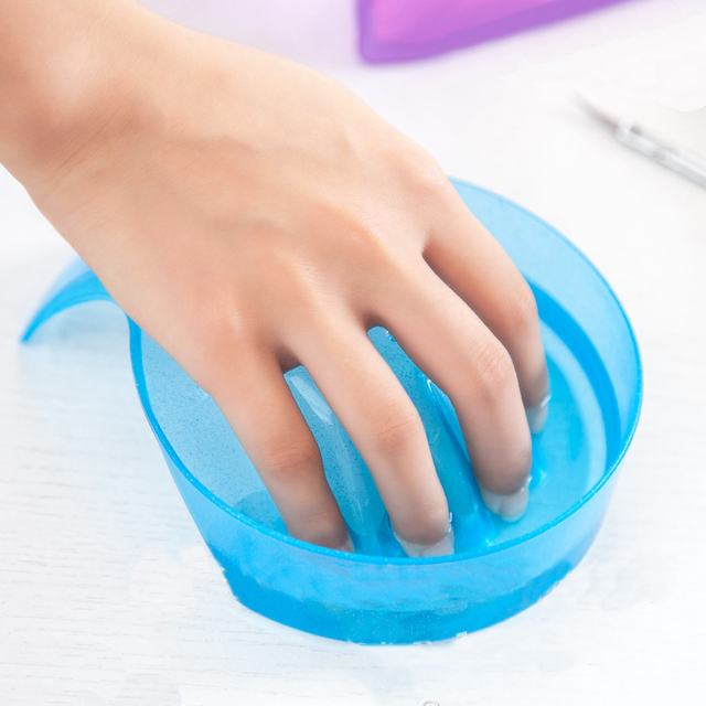 Manicure Bowl Soak Finger Acrylic Tip Nail Soaker Treatment Remover ...