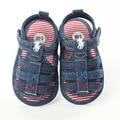 2017 Summer Fashion Soft Bottom Baby Shoes Boy First Step Striped Denim Anti-skid Step Shoes YD224