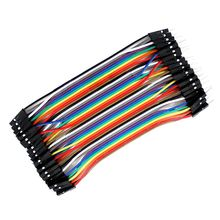 3X 40pcs 10cm Male To Female Dupont Wire Jumper for Arduino Breadboard W2E2 mb102 830 point breadboard 40pcs 1p 1p male to female dupont cable kit for arduino diy