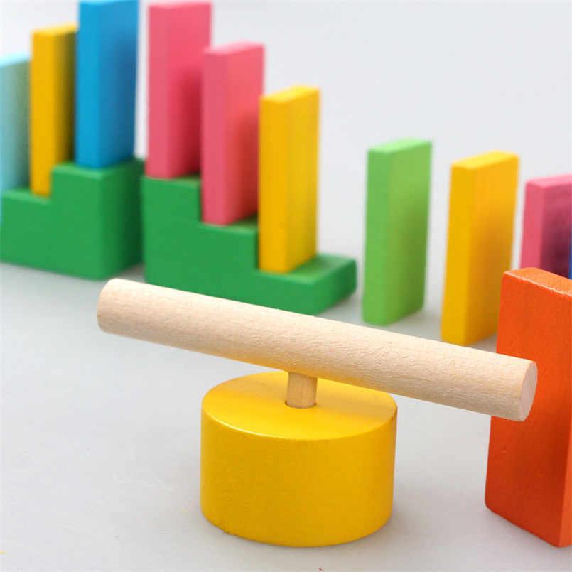 120 шт./компл./комплект цветные деревянное домино институт аксессуары детские игрушки родитель-ребенок Интерактивная домино игра деревянные блоки Детская игрушка
