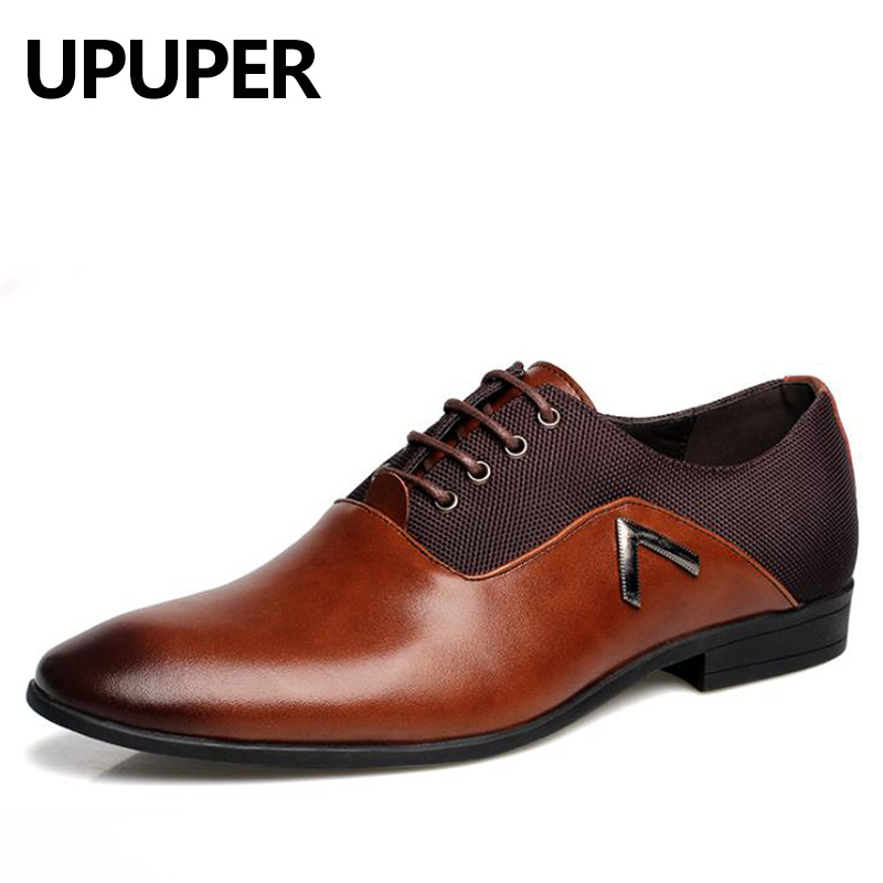 Spring Fashion Men Pointed Toe Dress Shoes High Quality Business Men Oxford Shoes For Male Zapatos Casual Flats Big Size:38-47