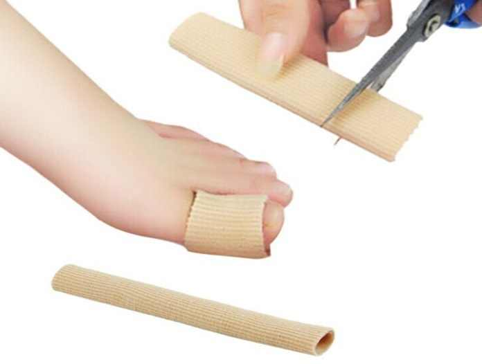 (14CM)Fabric+Gel Tube Cushion Corns and Calluses Orthopedics,Bunion Guard for Feet Care Bone Care Support