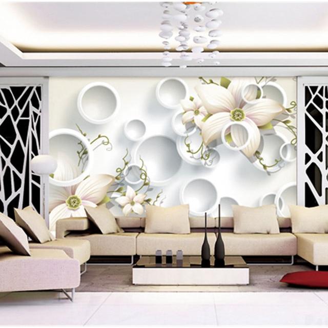 Personalizzato 3d Stampa Tessuto E Tessile Rivestimenti Murali Per
