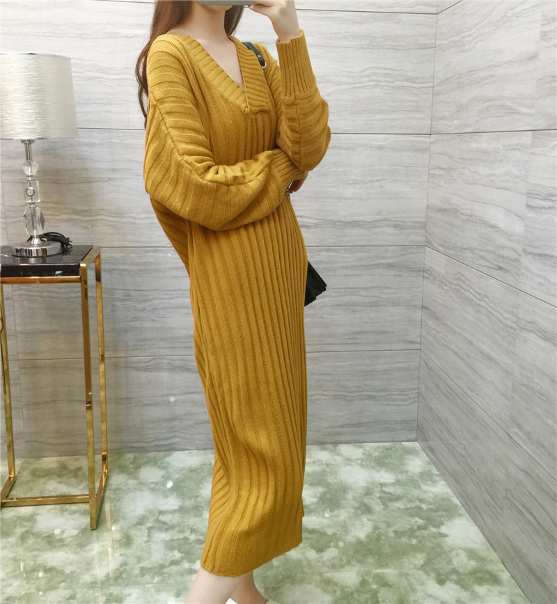 2016 new autumn long sweater maternity dress was thin loose large yards V-neck pregnant women knitted dress maternity spring and autumn 2016 models long sleeved loose cardigan sweater pregnant women