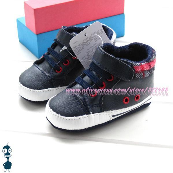Cool baby boys black sneakers PU warm footwear soft sole antiskid infant shoes comfortable casual prewalker first walkers RR1