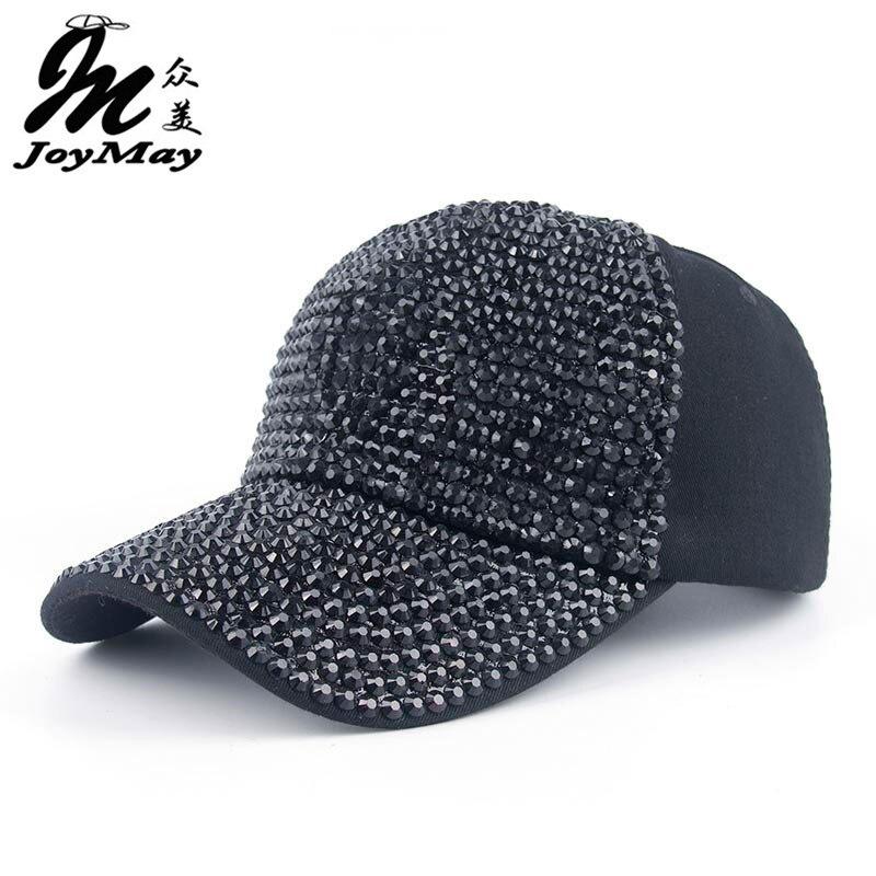 Prix pour 2016 Nouveau En Gros Au Détail Joymay Hat Cap Loisirs Mode Strass Bling Coton CASQUETTES Casquette de baseball B288
