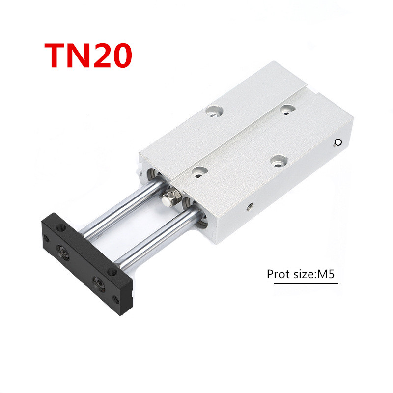 Free shipping Aluminium alloy Two-axis double bars cylinder TN20 series Bore 20mm stroke 10mm-100mm