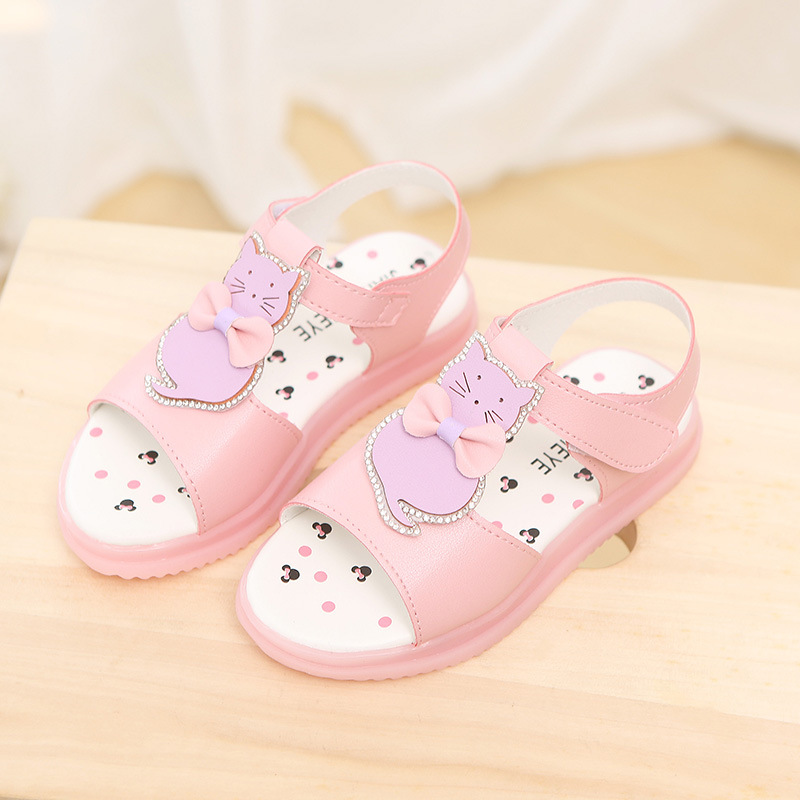e2e46b5065f Kids Sandals Girls Summer 2018 New cartoon Shoes For Girl Fashion Princess  Fish Head Kids Shoes Toddler Sandal Chaussures Filles-in Sandals from  Mother ...