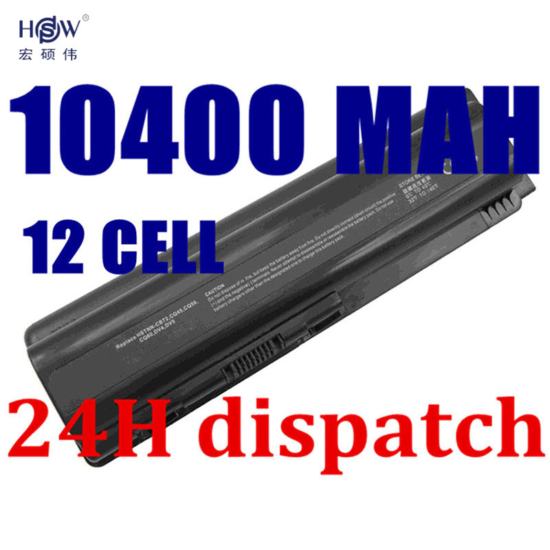 HSW 10400mAH Battery for Compaq Presario CQ50 CQ71 CQ70 CQ61 CQ60 CQ45 CQ41 CQ40 For HP DV4 DV5 DV6 DV6T G50 G61 batteria akku lidy pa 1650 02hc 65w 3 5a ac power adapter for hp compaq cq35 cq40 cq45 7 4 x 5 0mm