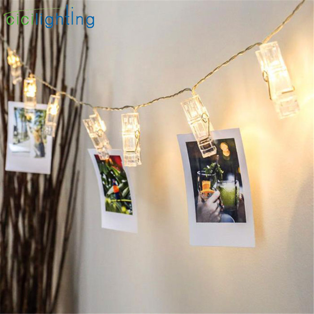 LED Clip Light String To Hang Photos Lights Lantern Picture Lights LED Clip Lighting, Party Internet Celebrity Room Decor Lamp(China)