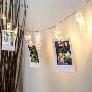 LED clip light string to Hang