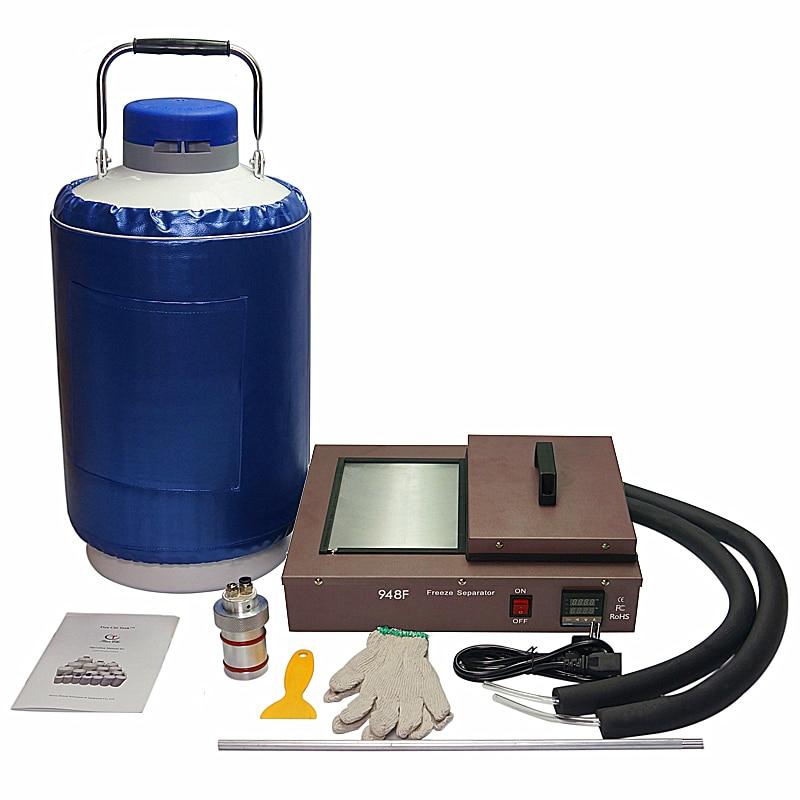 FS-06 liquid nitrogen frozen Separator 2 in 1 pack built-in oil-free pump with 10L liquid nitrogen tank 220V 300W nitrogen transformation in vertisol under soybean wheat system
