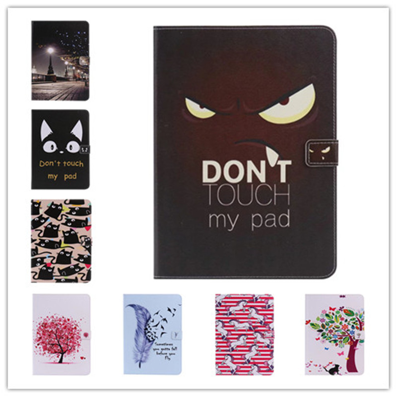 Fashion High Quality Painted With Stand Flip PU Leather sFor iPad Air Case For Apple iPad Air iPad 5 iPad5 Smart Case Cover