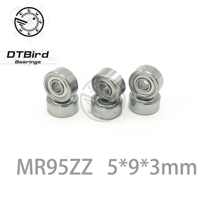 5x9x3 mm 10 PCS Metal Double Shielded Ball Bearing Bearings MR95z MR95ZZ