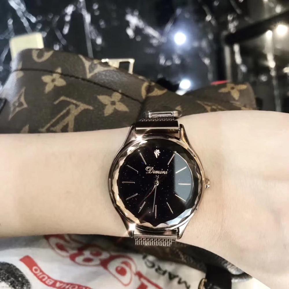 Vintage Women Caramel Bracelet Watches Anti Fading Full Steel Milanese Watch Cool Sexual Cold Wind Quartz Wrist watch Waterproof