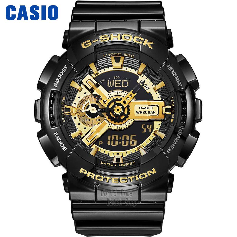 Casio watch Multi - functional earthquake - proof student movement male watch GA-110GB-1A casio watch direct action rotary crown movement waterproof male table ga 400gb 1a ga 400gb 1a4 ga 400gb 1a9