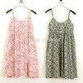 Новое Лето 2016 женская Мода Тонкий хлопок сарафаны точка подтяжки цветочные печатный платье повседневные майка платье Короткий топ 23-43color