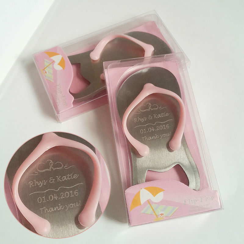 51a9216427836c 30pcs Pink Flip Flop Thong Bottle Opener in Gift Box Personalized Wedding  Favor Beach Themed Wedding Bridal Shower Party Favor-in Party Favors from  Home ...